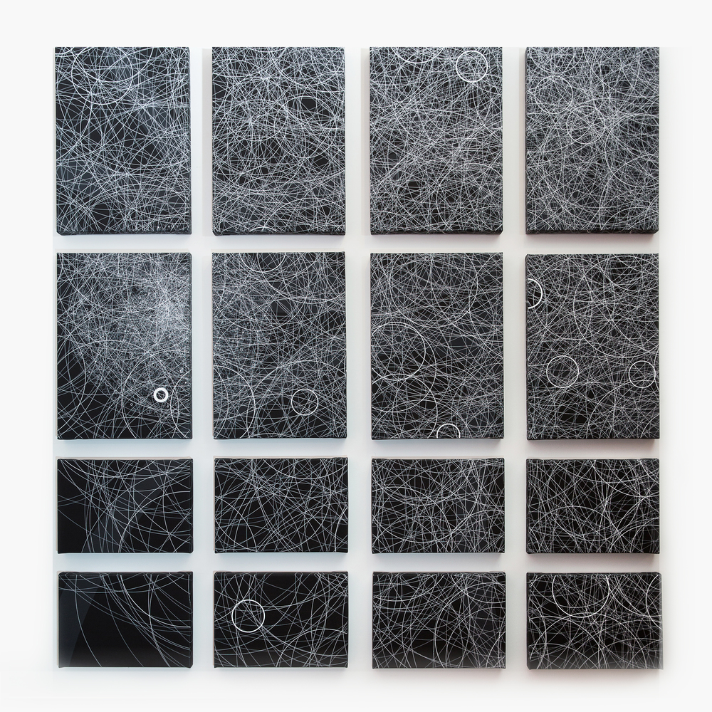 """Flatness, Wall 2"" Quadrant 1 (top left), 2 (top right), 3 (bottom left), 4 (bottom right)"" Giclée on Canvas 133.8 x 141 cm each 2015"