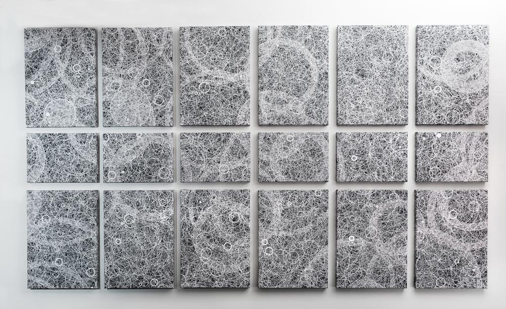 """Flatness, Wall 4""   Giclée on Canvas   277 x 158.5  cm   2015"