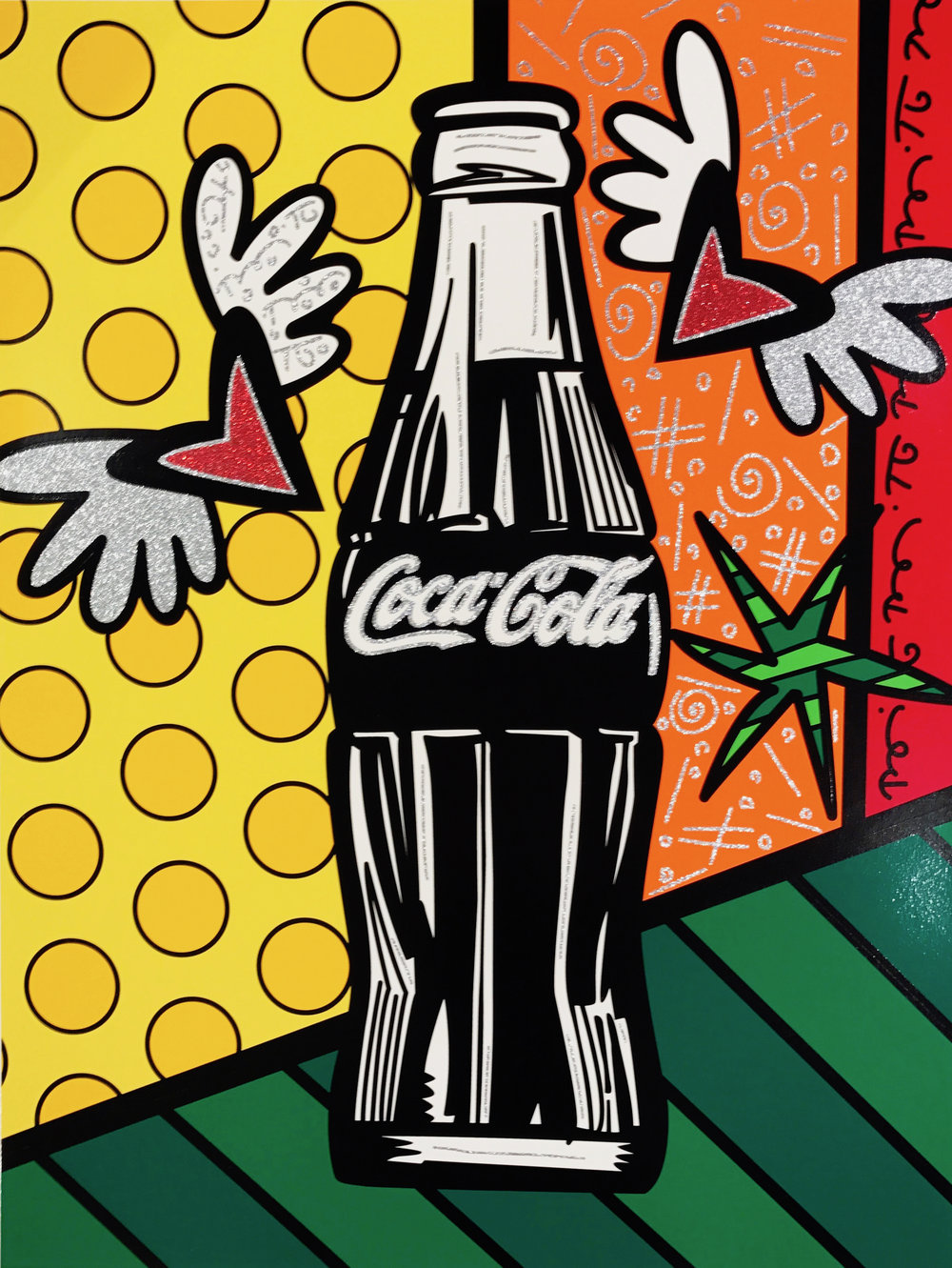 """Coca-Cola V - Happiness""  Serigraph, Limited edition, No. 10 of 100  101.6 x 76.2 cm  2016"