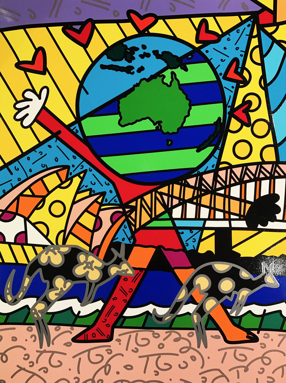 """Globe Generation Series – Australia""  Serigraph, Limited edition, No. 27 of 50  101.6 x 76.2 cm  2015"