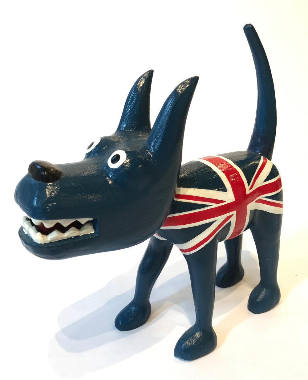 """""""Dog 5"""" Sculpture, unique item 27 x 24 x 9 cm 2010"""