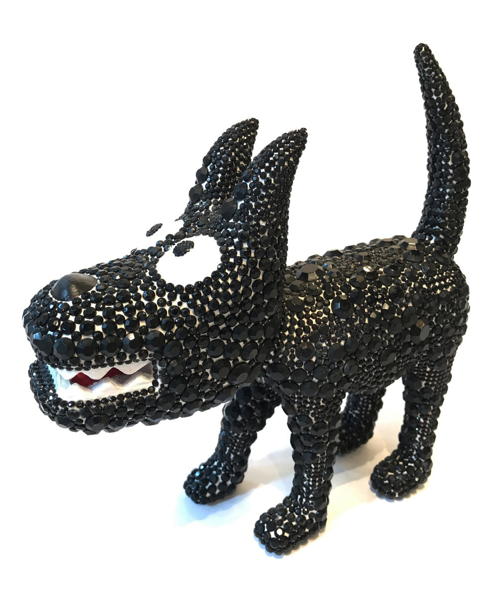 """Dog 8"" Sculpture, unique item 27 x 24 x 9 cm 2010"
