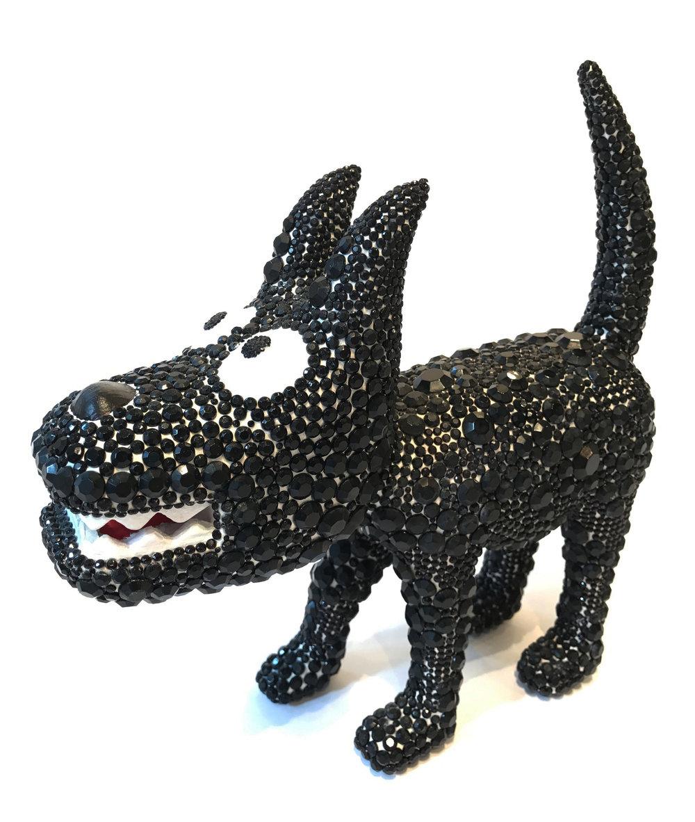 """""""Dog 8"""" Sculpture, unique item 27 x 24 x 9 cm 2010"""
