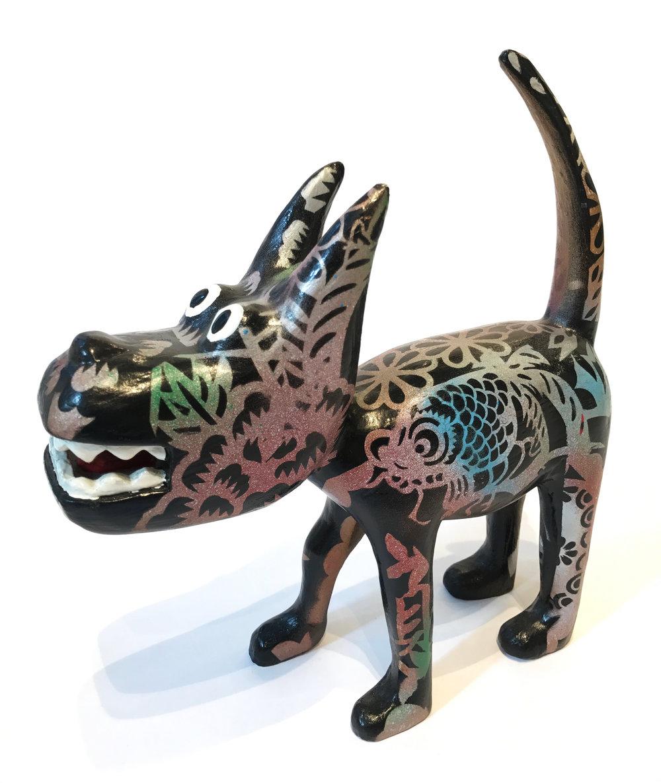 """""""Dog 9"""" Sculpture, unique item 27 x 24 x 9 cm 2010"""
