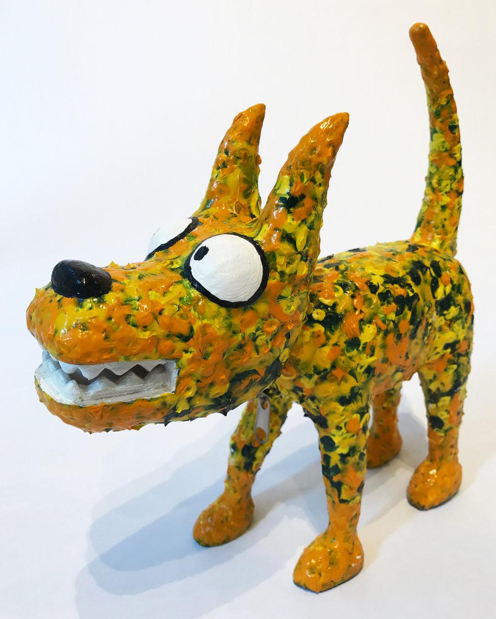 """""""Dog 10"""" Sculpture, unique item 27 x 24 x 9 cm 2010"""