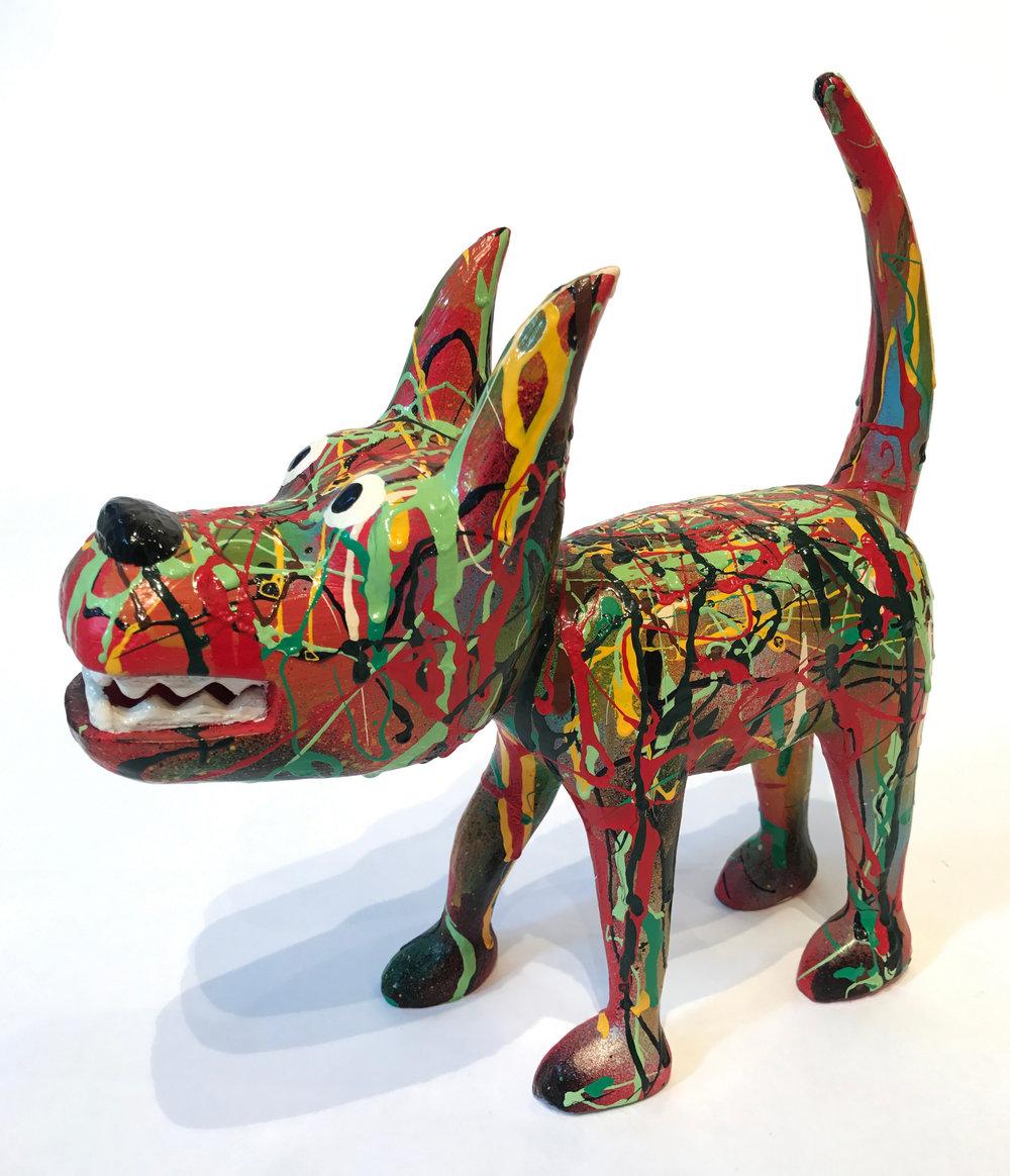 """""""Dog 12"""" Sculpture, unique item 27 x 24 x 9 cm 2010"""