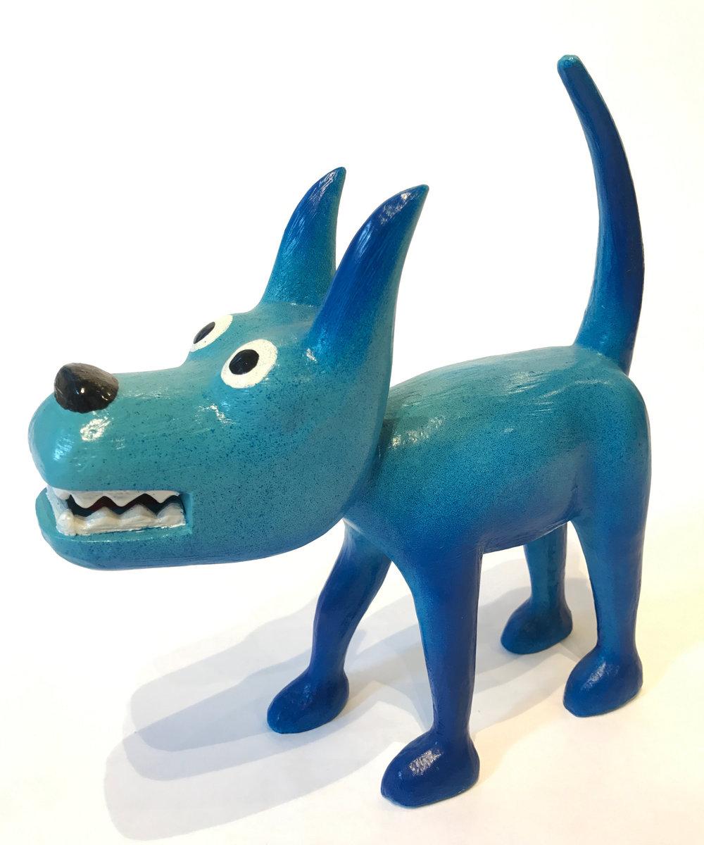"""""""Dog 14"""" Sculpture, unique item 27 x 24 x 9 cm 2010"""