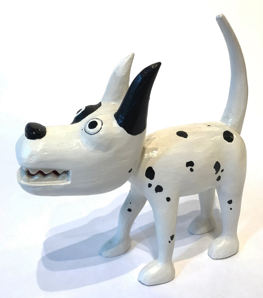 """Dog 5"" Sculpture, unique item 27 x 24 x 9 cm 2010"