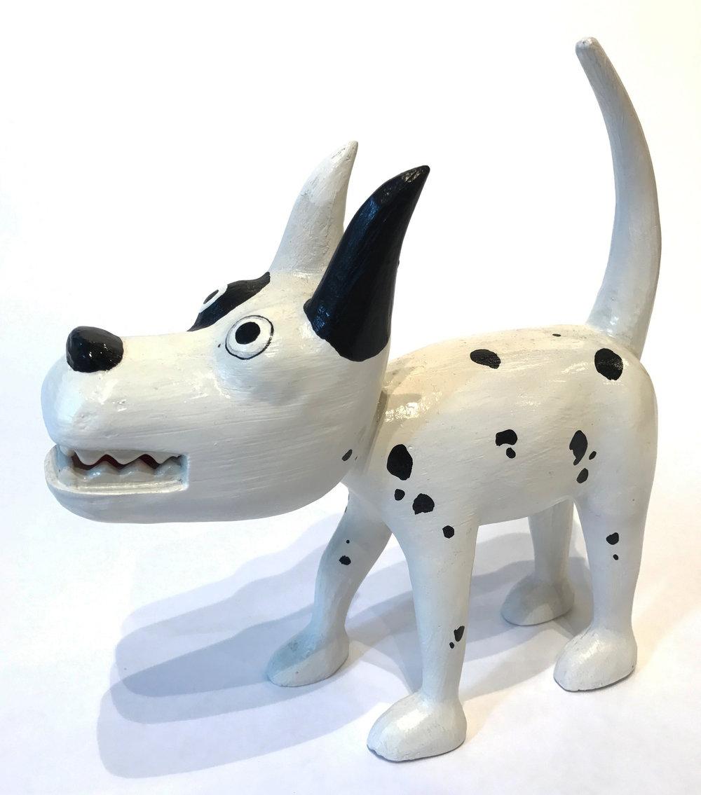 """""""Dog 15"""" Sculpture, unique item 27 x 24 x 9 cm 2010"""