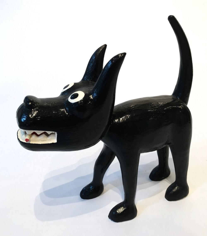"""""""Dog 17"""" Sculpture, unique item 27 x 24 x 9 cm 2010"""