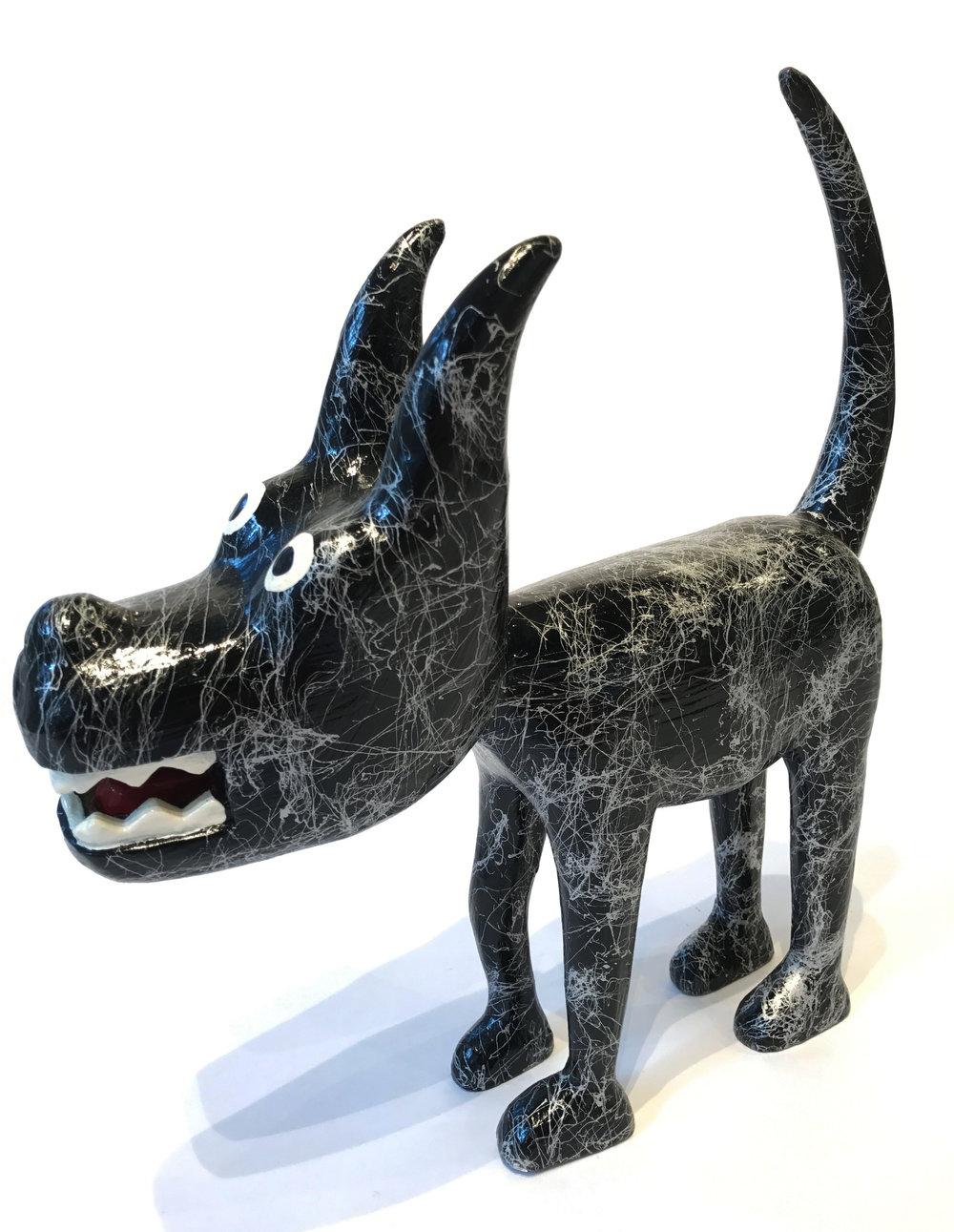"""""""Dog 18"""" Sculpture, unique item 32 x 32 x 9 cm 2010"""