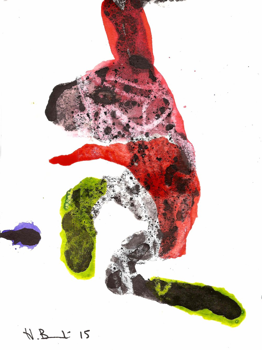 Haude Bernabé_Lucioles 5_2015_Mixed Media on Paper (Ink, Pencil and Varnish)_14 cm x 19 cm_HKD .jpg