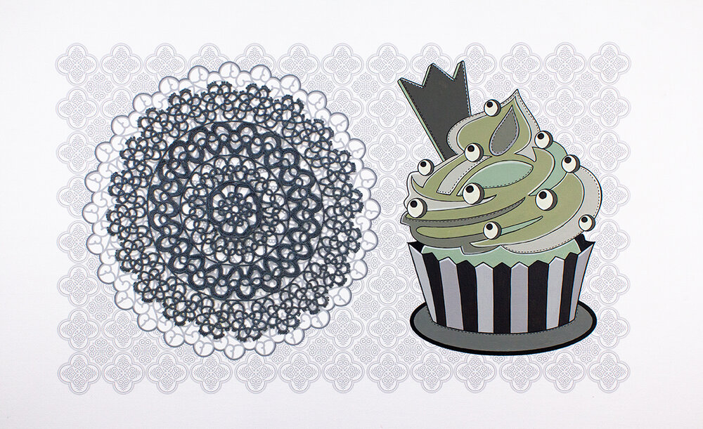 Cupcake and Doily