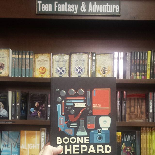 Boone Shepard in* @barnesandnoble ! *technically. Not like, for sale or anything.