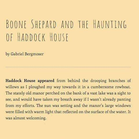 Read the new Boone Shepard short story on our recently revamped website. 👌