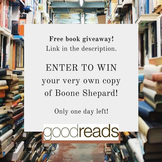 Only one day left. 10 copies to be won! Follow this link to enter on Goodreads http://bit.ly/2btxrFO