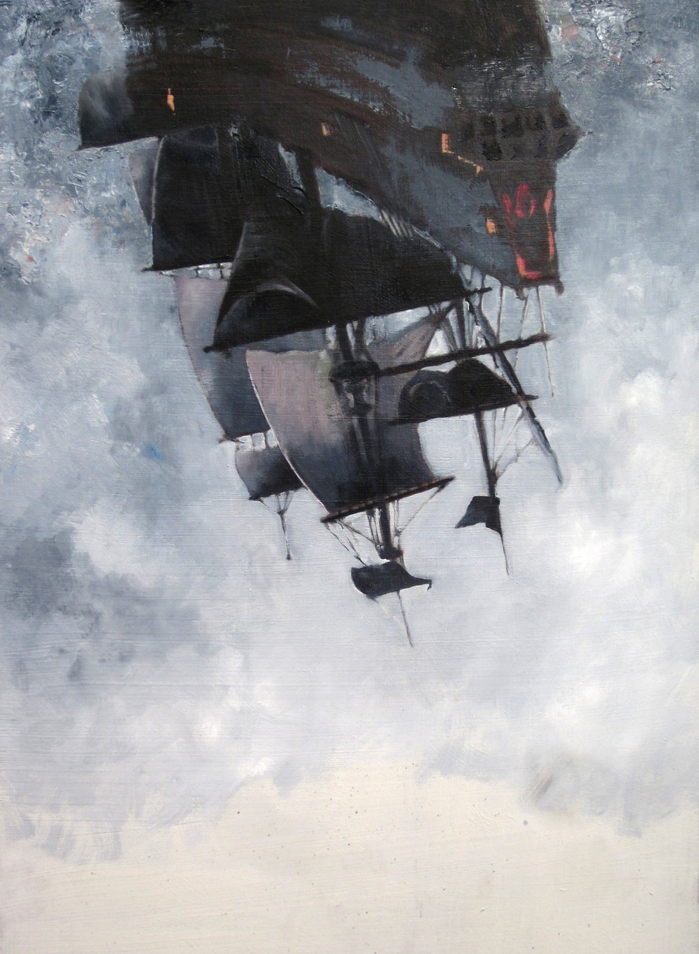 "The Flying Dutchman, 17""x24"", oil on panel. Available."
