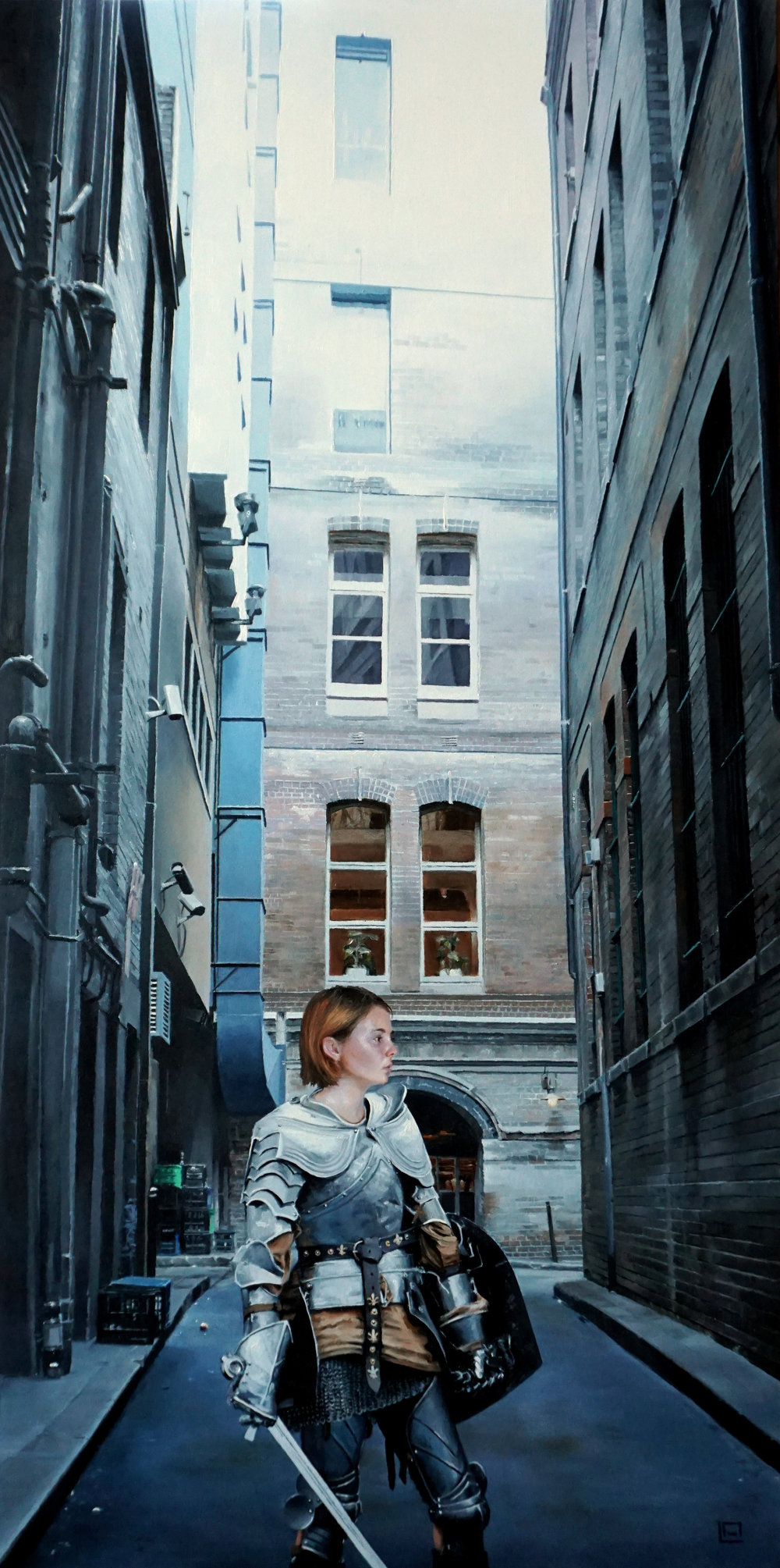 "Echoes, 12""x24"", oil on panel. Available"