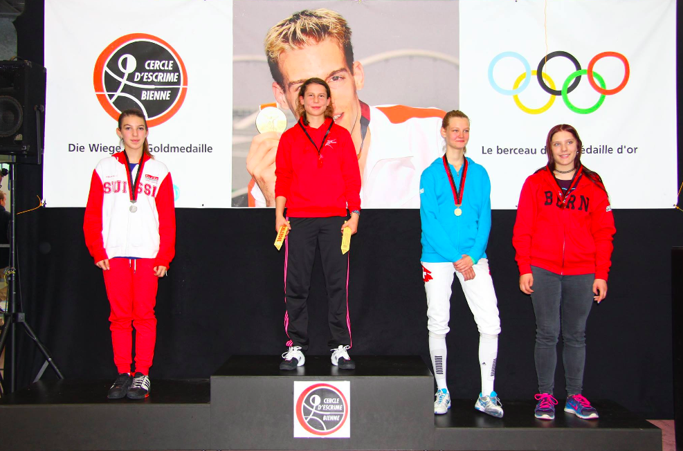 Isabelle Burkhard (FCB) schaffte es auf den 3. Platz in der Kategorie Jugend-A .