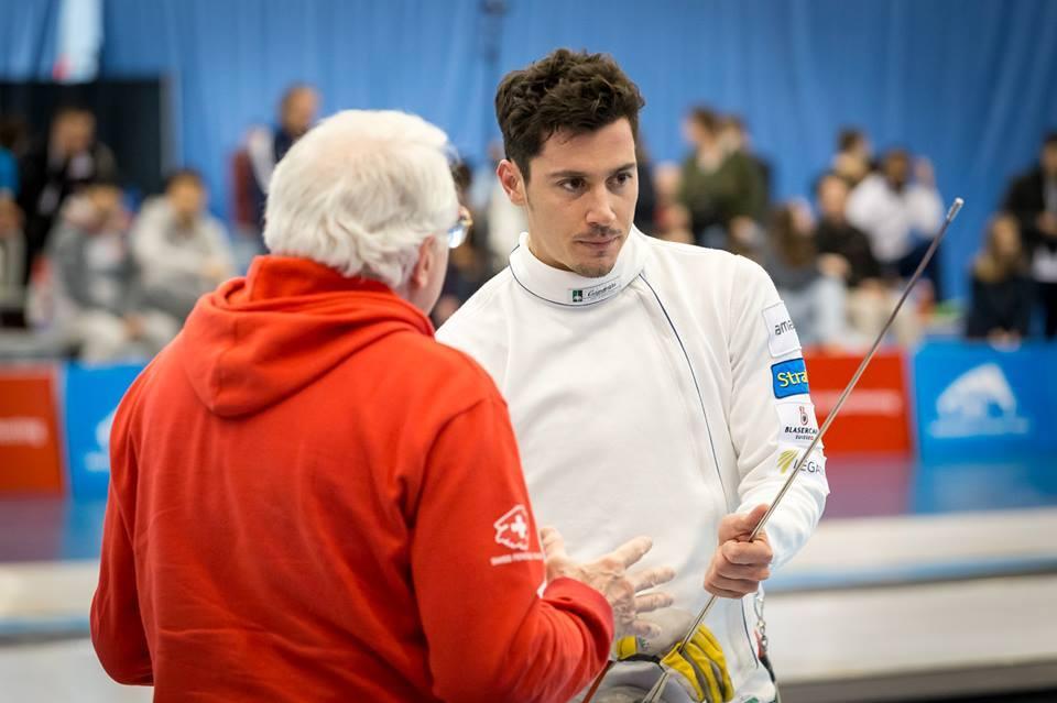 Fabian Kauter und Gianni Muzio. (Foto: Devin Manky Photography. Thank you Swiss Fencing!)