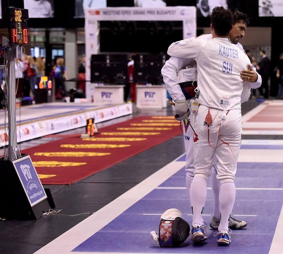 Fabian Kauter gewinnt gegen Silvio Fernandez (VEN) 14:10 im 32er Tableau. (Foto: Augusto Bizzi/FIE)