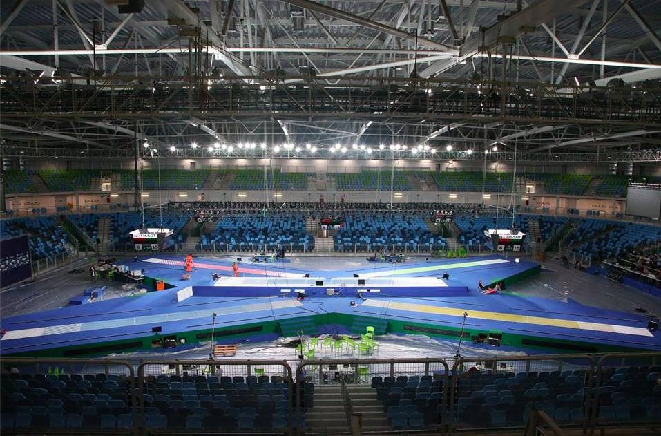 Ein Vorgeschmack auf die Olympischen Spiele in Rio: Arena Carioca 3. (Foto: Serge Timacheff)