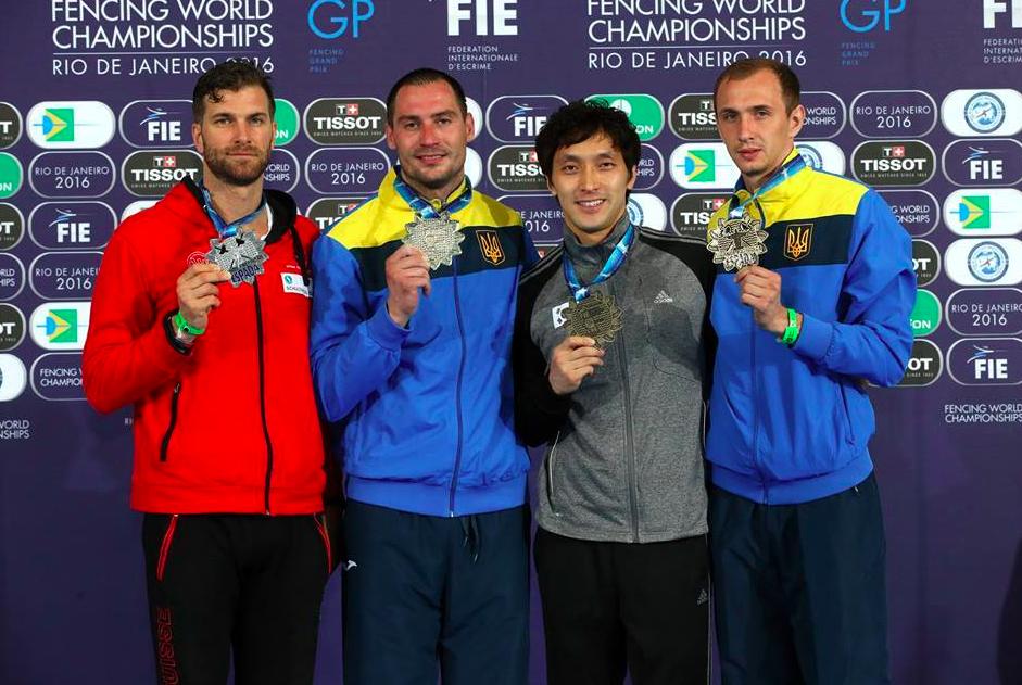 Die Medaillengewinner in Rio. (Foto: S. Timacheff/A. Bizzi)