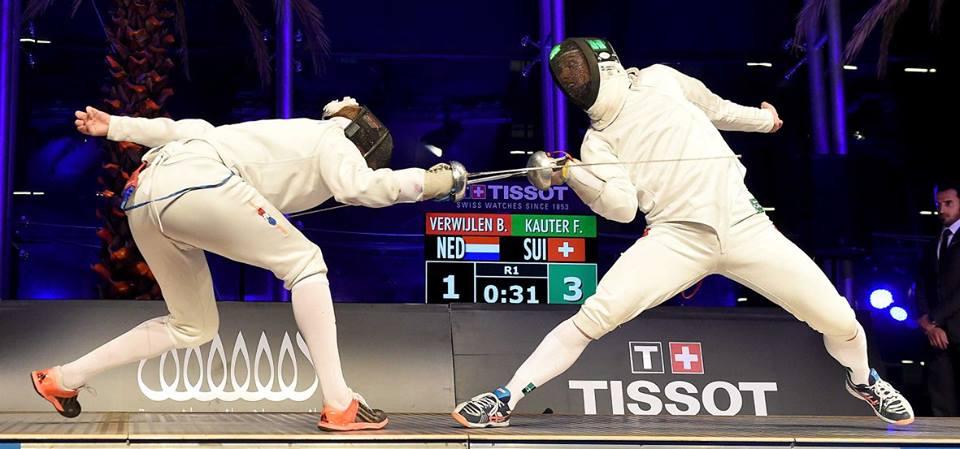 Fabian Kauter (rechts) und Bas Verwijlen kreuzen die Klingen. (Foto: zvg)