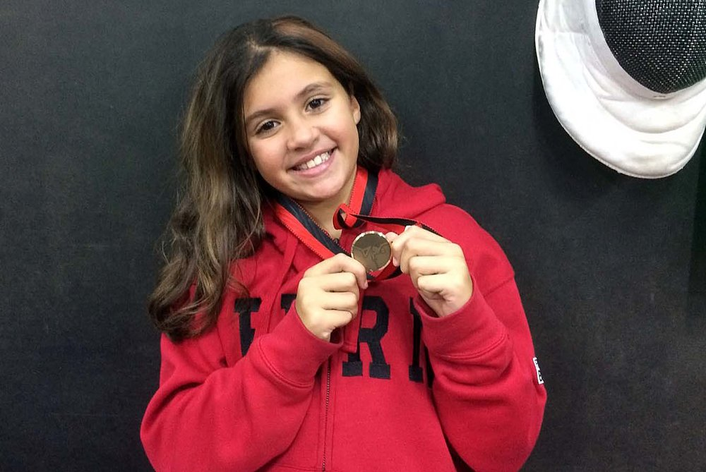 Magda-Louna Maiga freut sich über ihre Bronzemedaille! (Foto: Claudine Nielaba)