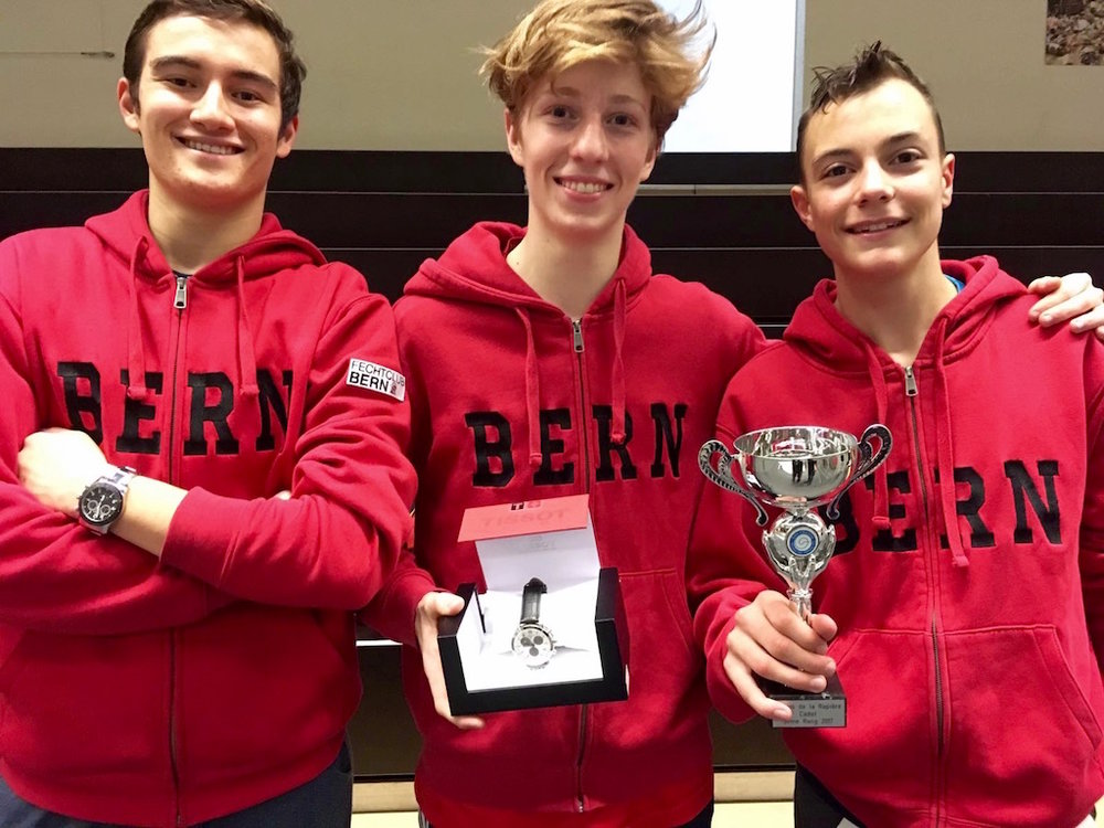 3. Platz U17: Alastair Frauchiger, Jonathan Fuhrimann, Jeremy Ramuz