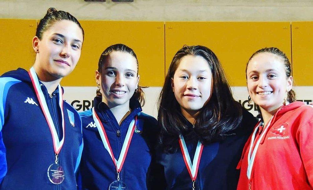 Angeline Favre (rechts) holt in Luxemburg die Bronzemedaille.