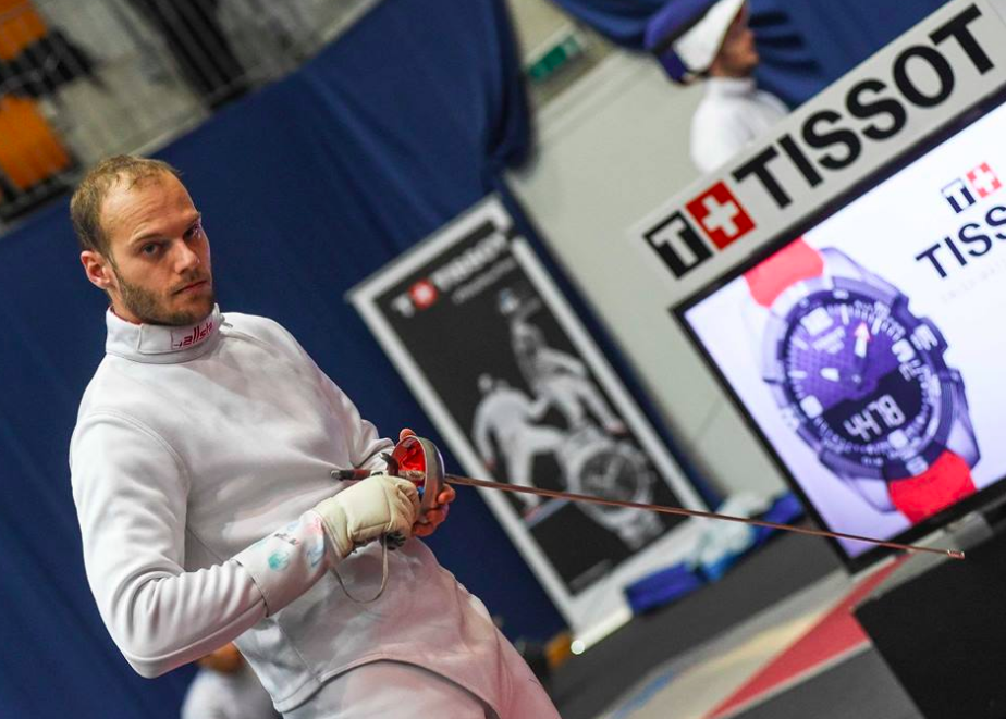 Jan Bidovec am 55. TISSOT Grand Prix de Berne 2018. (Foto: Eva Pavía/Bizzi Team/Swiss Fencing)