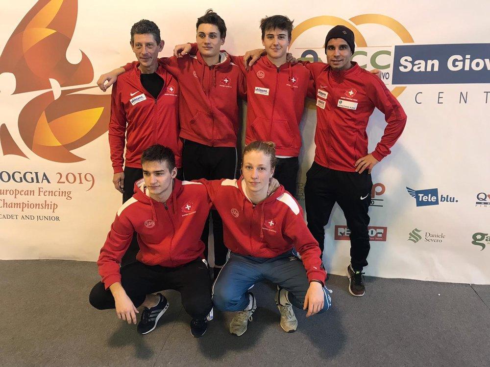 Das Schweizer U17-Team in Foggia. (Foto: FCB)