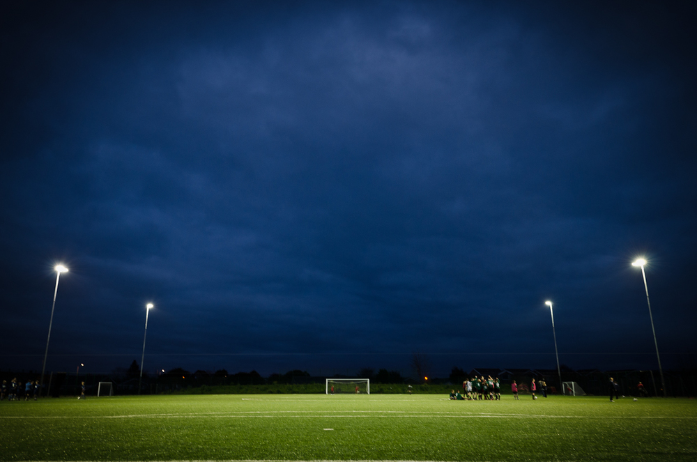 Floodlit 3G artificial pitch - set out for 11 and 6 a side football