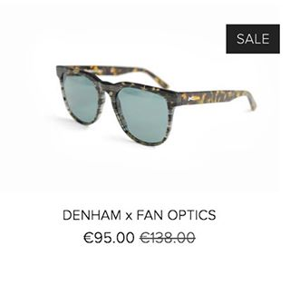 Mid-Summer Sale! Denham x Fanoptics exclusive sunglasses, only available at www.fanoptics.co.uk #experimentsineyewear
