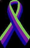 The International Symbol for Narcissistic/Borderline Abuse:                                   Blue = Child Abuse +Purple = Partner Abuse +Green = Mental Illness
