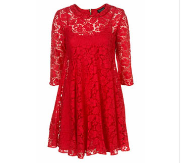 Peter Pan Swing Lace Dress