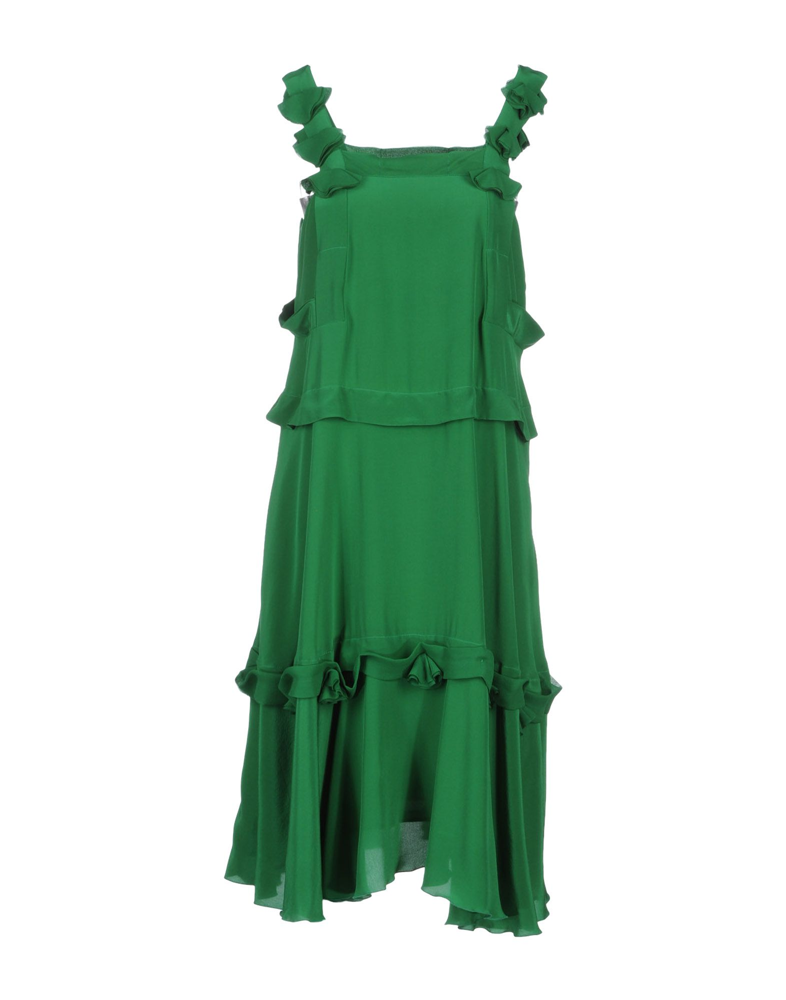 Green silk See by Chloe Dress