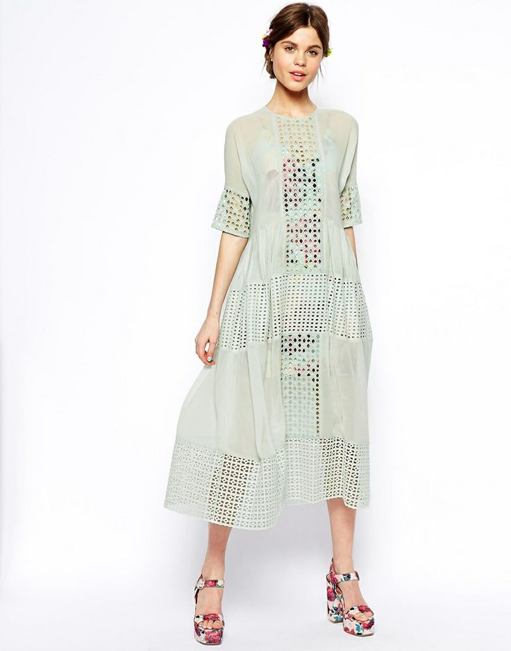 ASOS Green cut-work dress