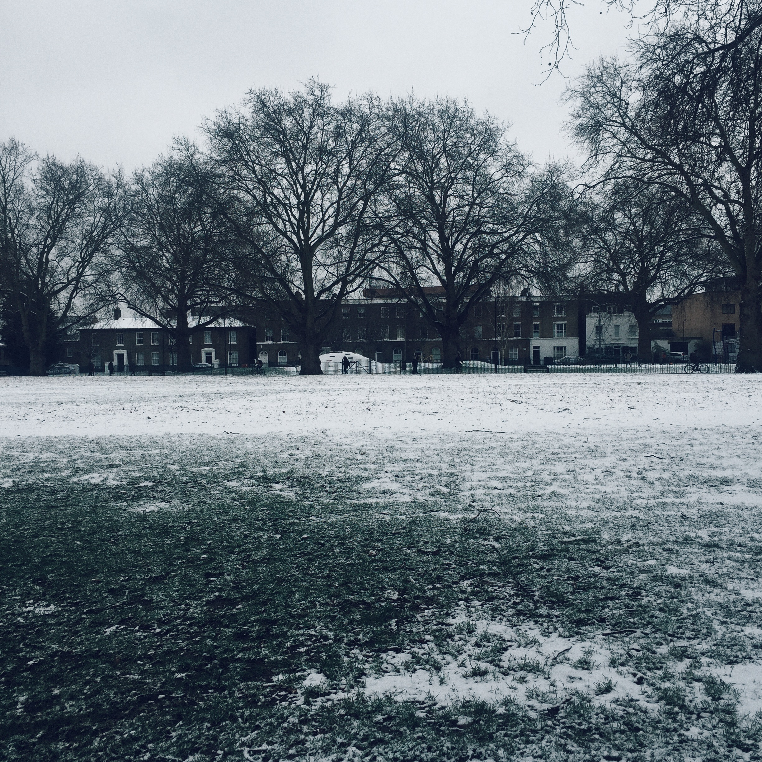 Snowy London Fields