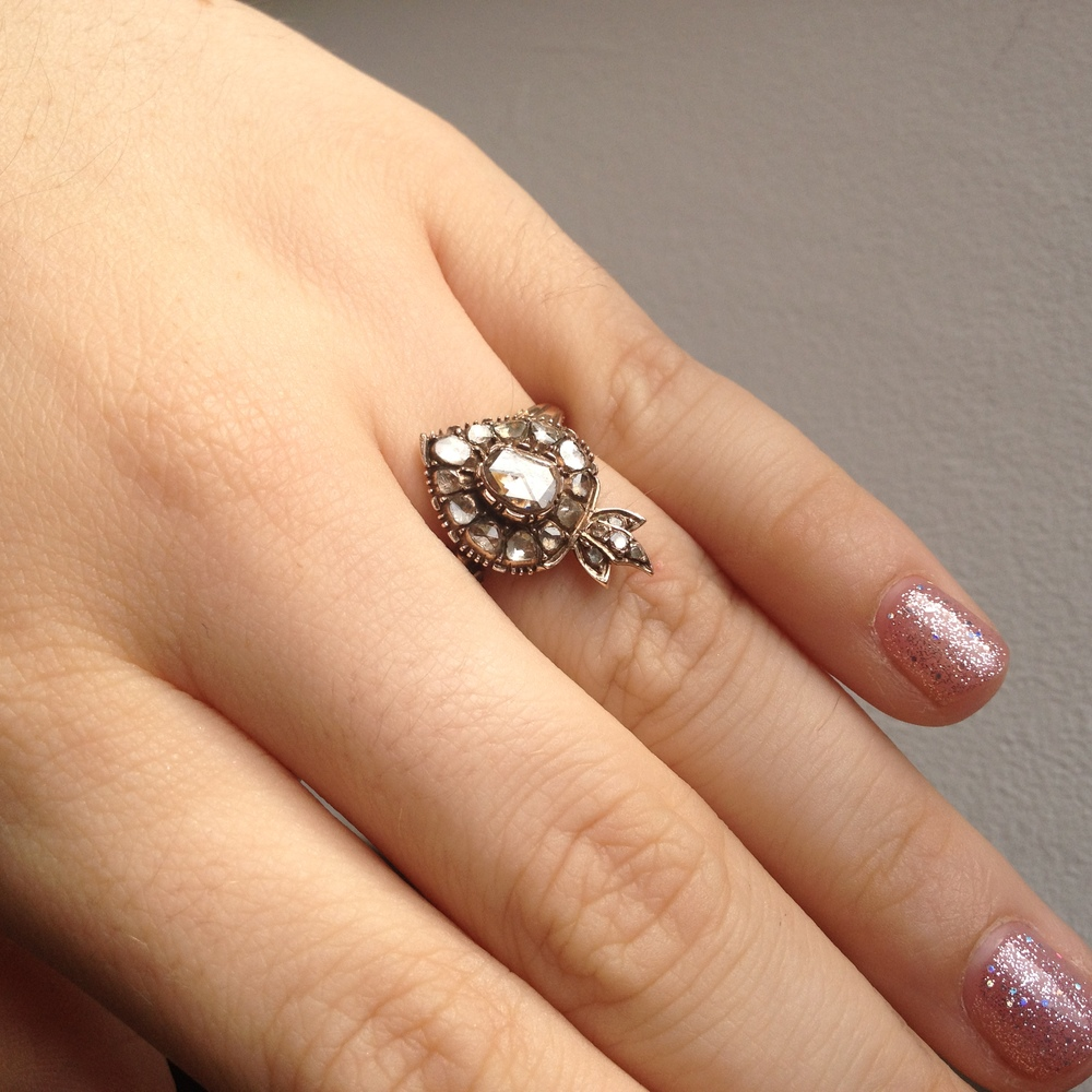 The modern collector: engagement ring on