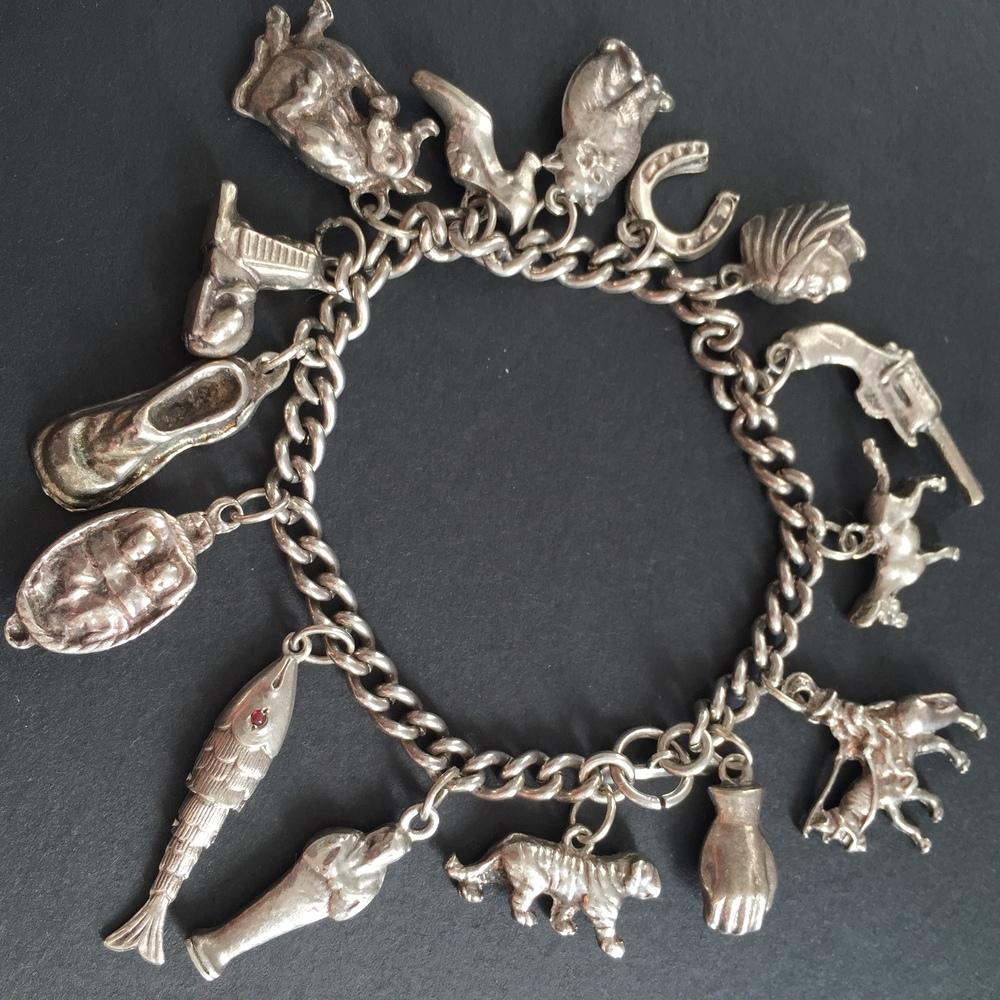 My gran's silver charm bracelet