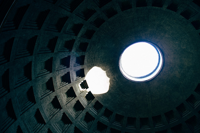 Light in the Pantheon dome
