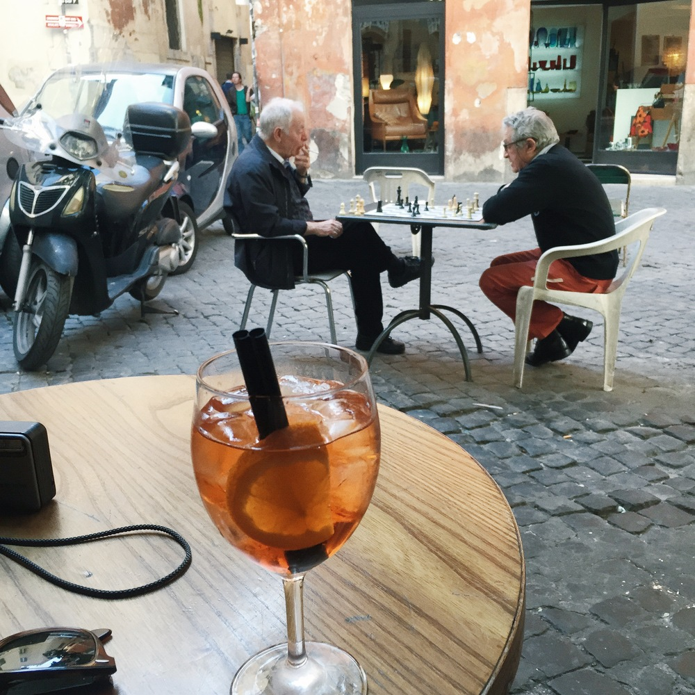 Aperol spritz in Rome