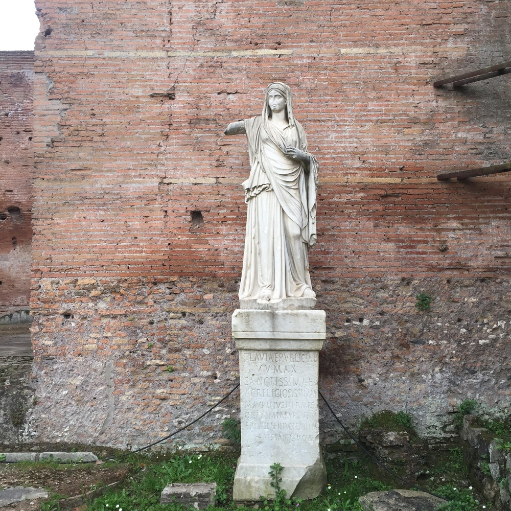 Vestal Virgin in the Roman forum