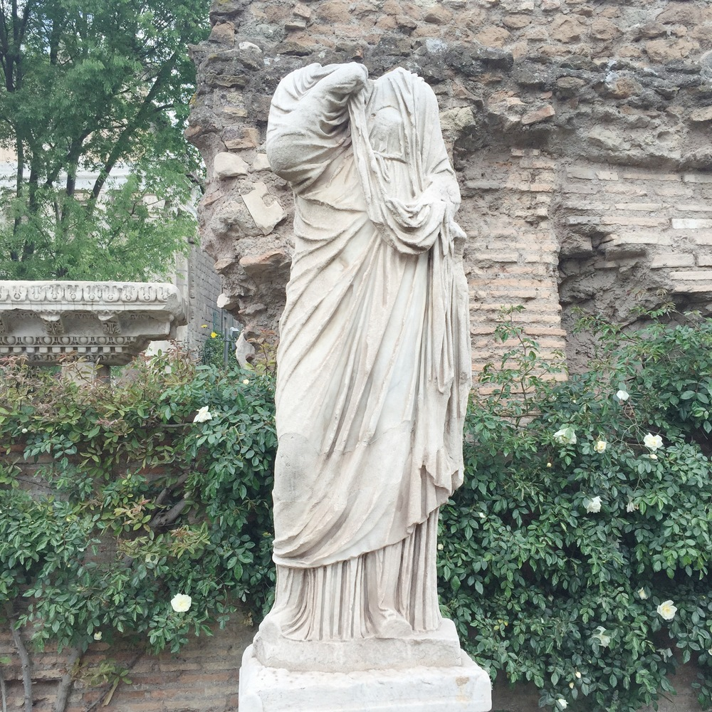 Headless vestal virgin in the Roman Forum