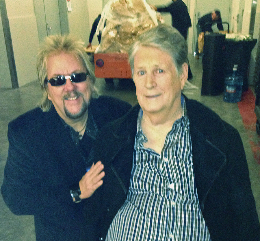 Thanking a personal hero, Brian Wilson.