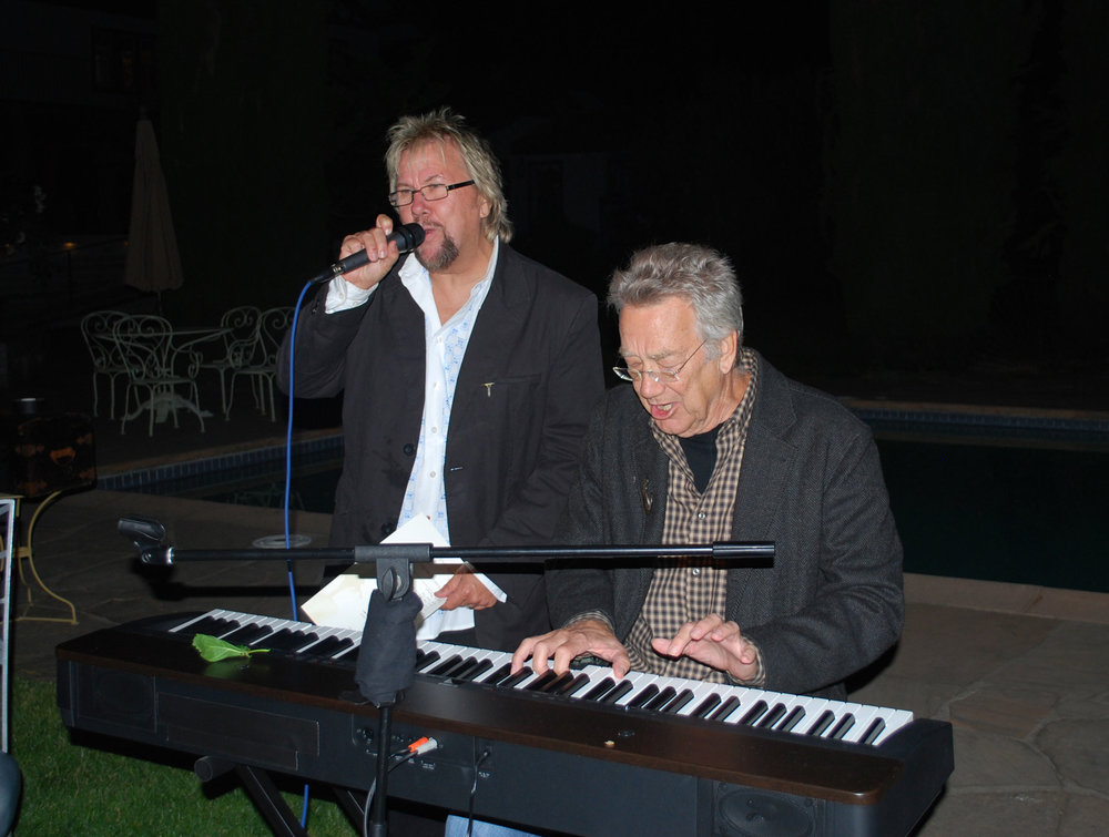 With Ray Manzarek at Trefethen Winery, Napa