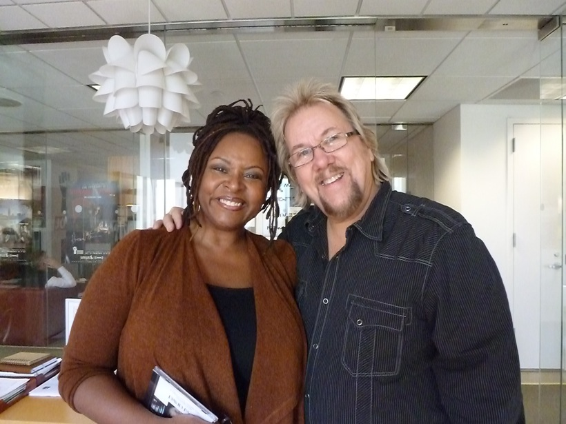 DP & Robin Quivers at Stern Show Sirius XM radio Nov 2 11 copy.jpeg