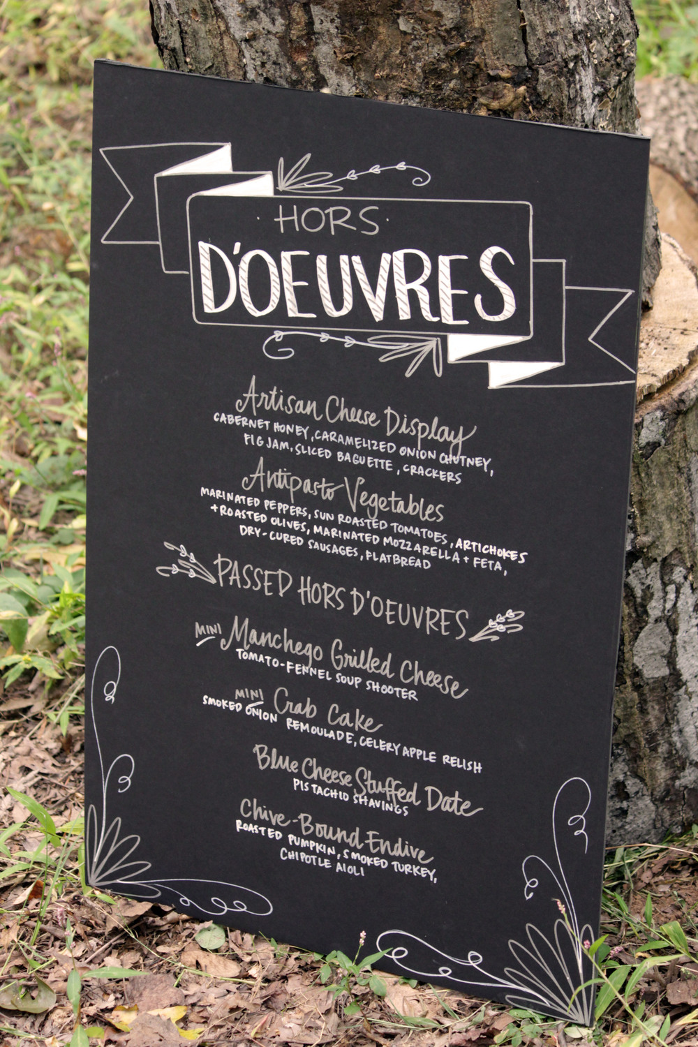 Wedding Custom Menu Board
